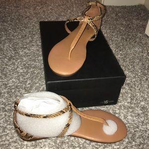 Yosi Samra snake skin sandals
